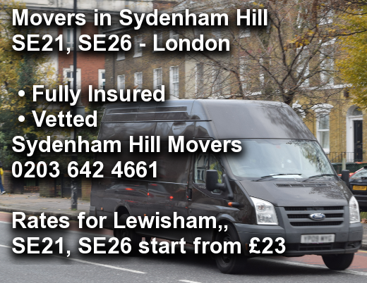 Movers in Sydenham Hill SE21, SE26, Lewisham,