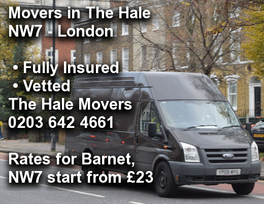 Movers in The Hale NW7, Barnet