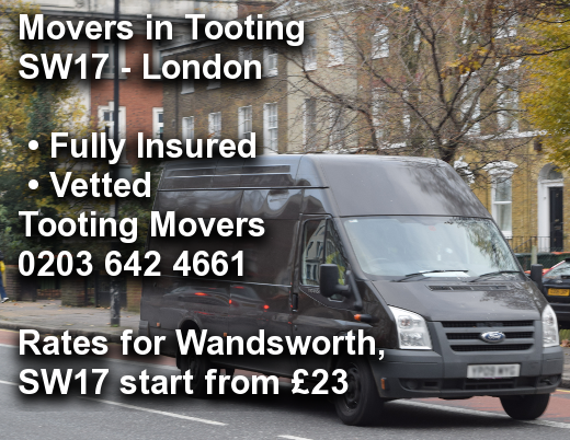 Movers in Tooting SW17, Wandsworth
