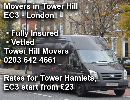 Movers in Tower Hill EC3, Tower Hamlets