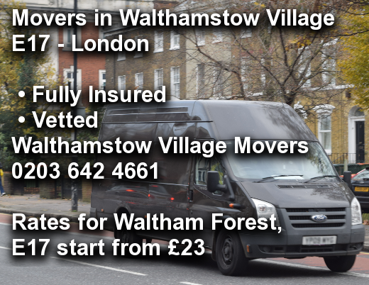 Movers in Walthamstow Village E17, Waltham Forest