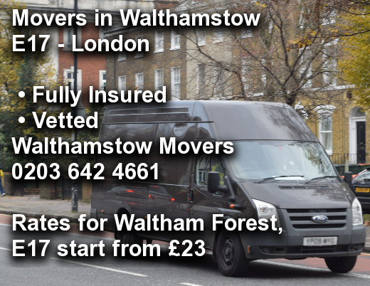 Movers in Walthamstow E17, Waltham Forest