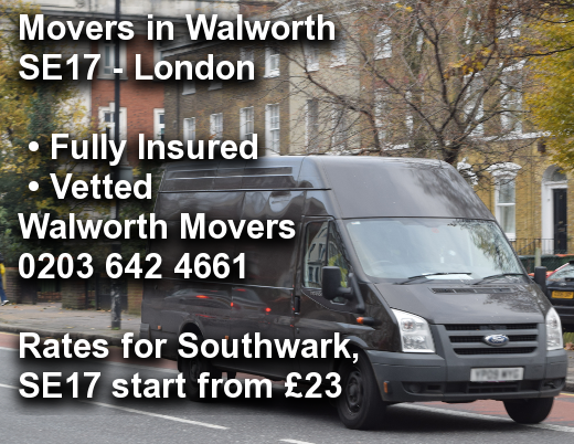Movers in Walworth SE17, Southwark