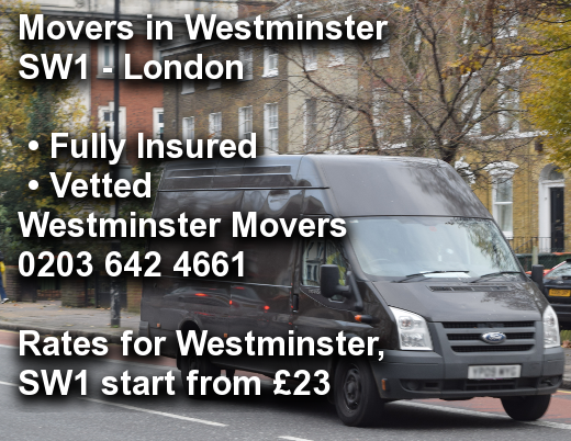 Movers in Westminster SW1, Westminster