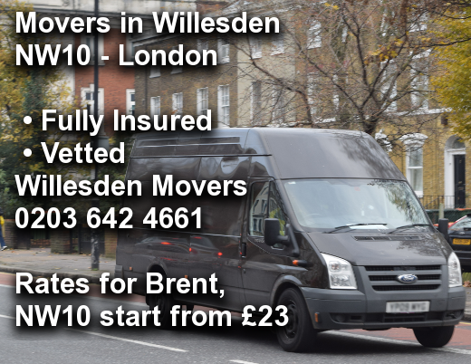 Movers in Willesden NW10, Brent