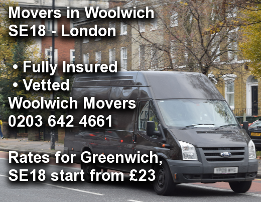 Movers in Woolwich SE18, Greenwich