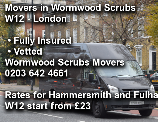 Movers in Wormwood Scrubs W12, Hammersmith and Fulham