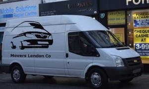A van with a man