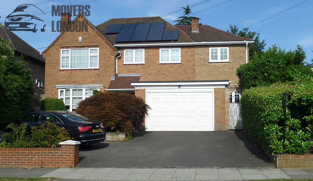 London home with solar panels