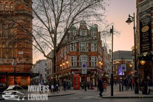 Shopping street in London